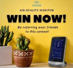 Win The Castus Air Quality Monitor And Detector