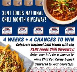 XLNT Foods National Chili Month Giveaway!