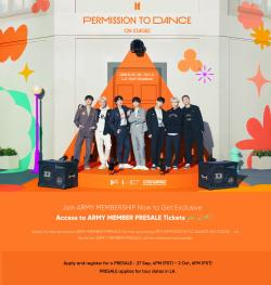 2 BTS Concert Tickets For BTS PERMISSION TO DANCE ON STAGE - LA