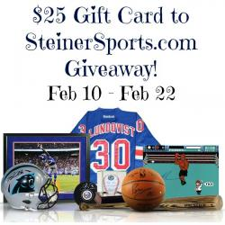 $25 Gift Card To Steiner Sports Giveaway