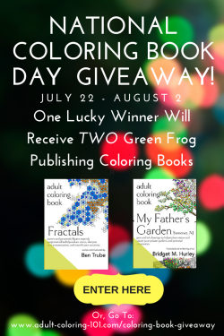 2 Gorgeous Adult Coloring Books (8/2, US & CAN)