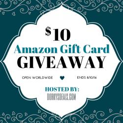 $10 Amazon Gift Card Giveaway (8/10 WW)