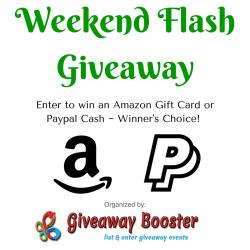$50 Weekend Flash Giveaway (7/31 WW)