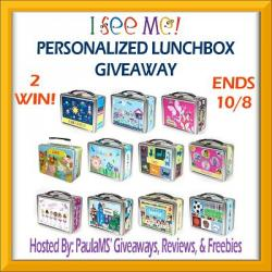 I See Me Personalized Lunchbox Giveaway