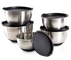 PriorityChef 5Pc Mixing Bowl Set